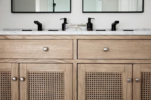 cane door vanity with marble ac interiors design and build