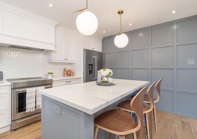 Kitchen- White and Gray