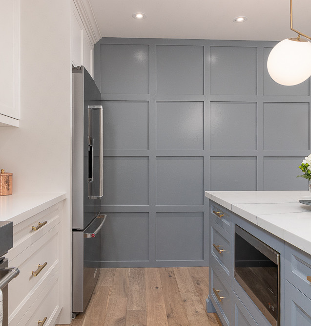 Accent Panel Wall in kitchen