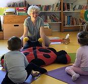 Delphine Place, professeure de yoga pour enfants
