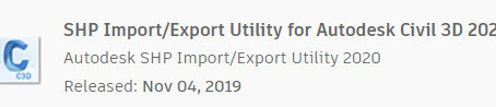 SHP Import/Export Utility for C3D 2020