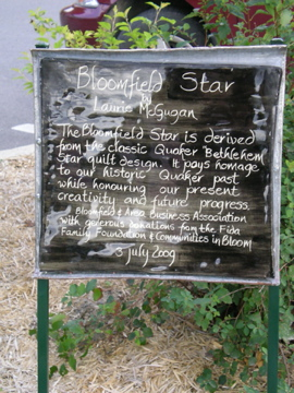 Bloomfield Star plaque