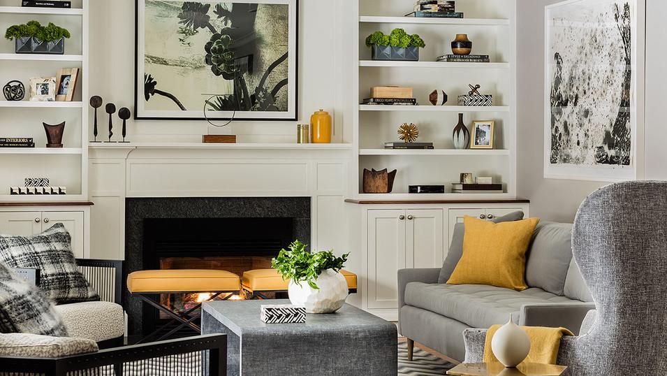Follen Residence -Living Room