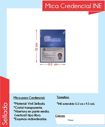 MICA CREDENCIAL INE (PAQUETE C/50 PIEZAS)