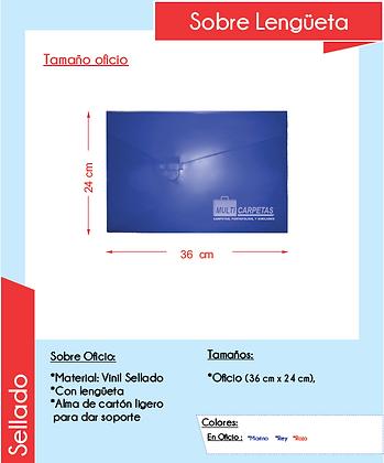 SOBRE CON LENGUETA (caja c/50pzs)