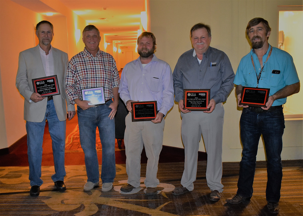 Pictured from left to right: Andy Rodgers, Hillcrest Farms; Dave Clark, Godfrey Dairy; Daniel Williams, WDairy; Jimmy Franks, Franks Farm and Eldon Eberly, Eberly Farmily Farms