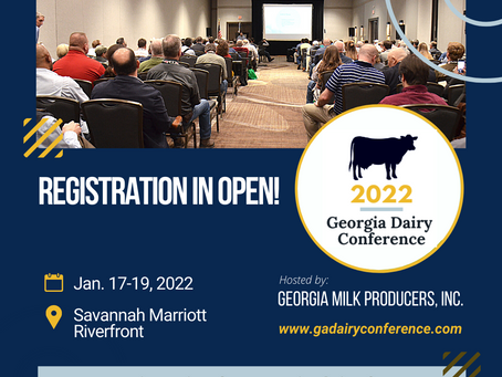 Registration in now OPEN for the 2022 GA Dairy Conference!