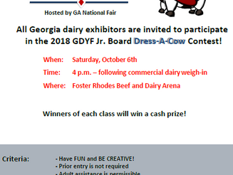 Georgia National Fair is sponsoring  Dress-a-Cow