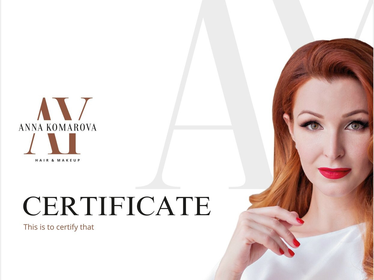Zertifikat von Anna Komarova