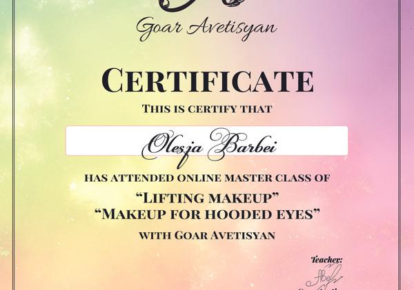 Zertifikat von Goar Avetisjan