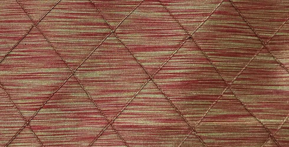 Diamond Tuck - Red Silky fabric