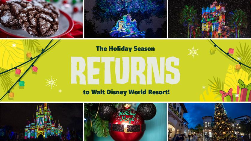 The Holidays are Back at Walt Disney World Resort!