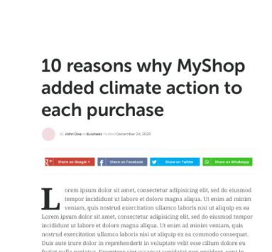Klimaschutz-Artikel: Kommuniziere dein Klimabeitrag für effektiveres Marketing