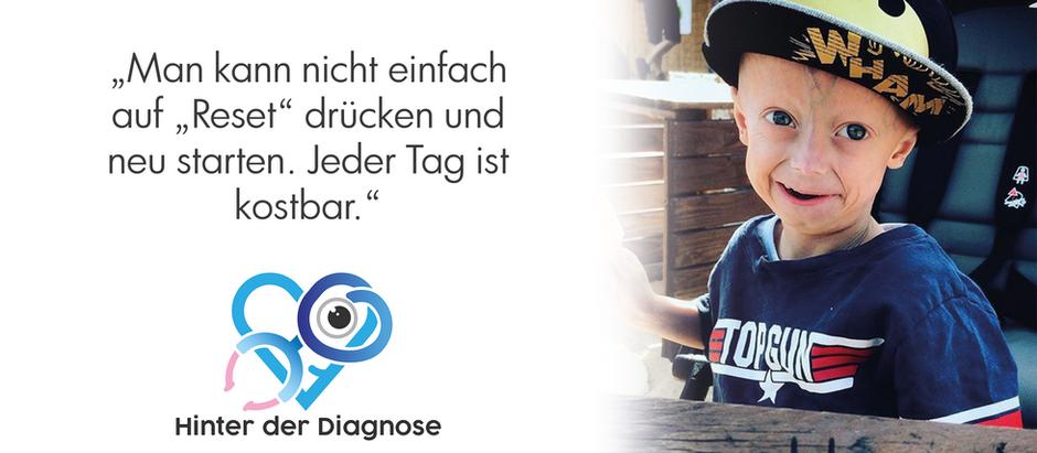 Hinter Progerie – Jeden Tag genießen. Lukes Vater über das Leben mit einem ganz besonderen Kind.