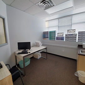 Our eye doctor's vision therapy and contact lens room.