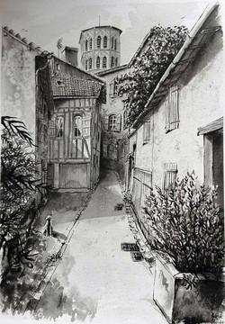 Rue de la glacière, Lombez (32)