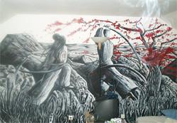 fresque samourai