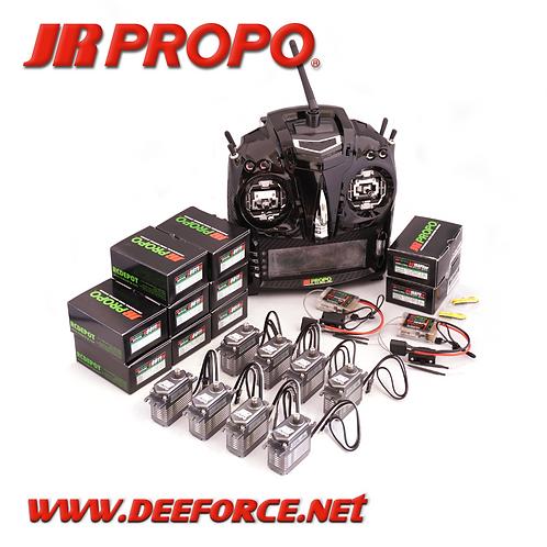 T44 SE Transmitter, RX(RG16BPX OD/EV), and 8 x S8911 Brushless Servo set
