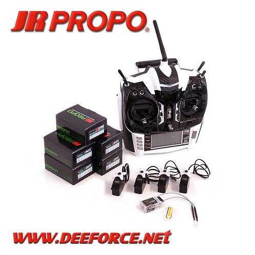 T8 x 4 Transmitter, RX(RG613BX), and 4 x S3411 Servo set