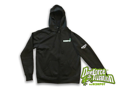 Dee Force Aviation by RC DEPOT Hoodie Black (Medium Size)