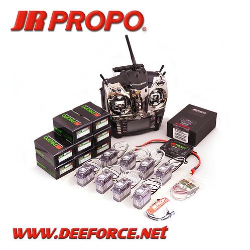 "T14 x 4 ""CNC"" Transmitter, RX(11BPX w/RA03 (Deans)), and 8 x S8955SS Servo set"