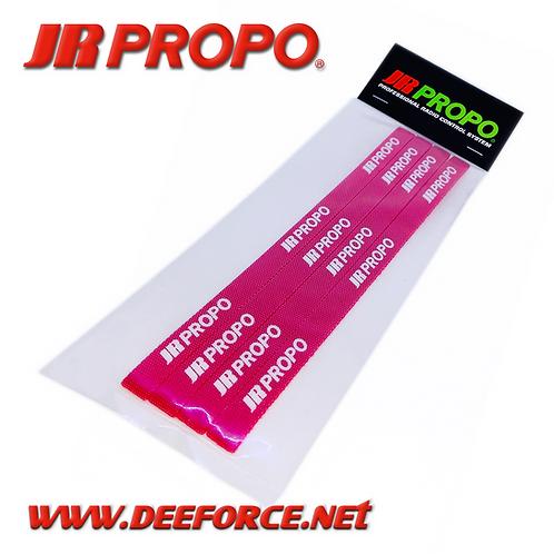 JR Propo Battery Strap Red 4pcs (small)