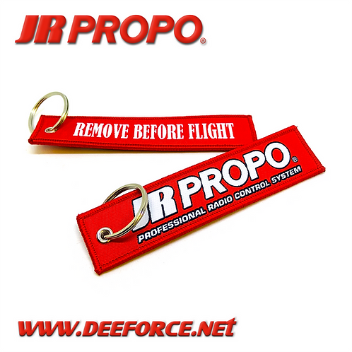 "JR Propo ""Remove before flight"" tag"