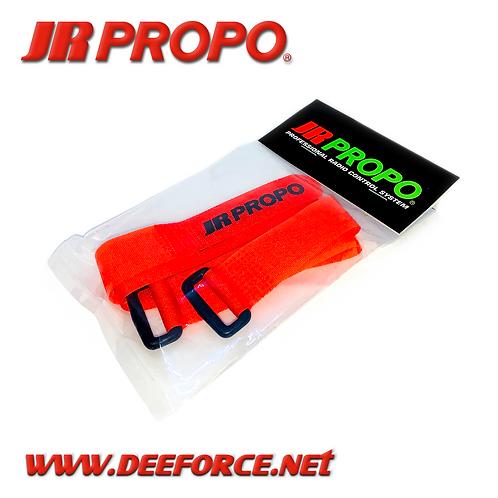 JR Propo Battery Strap Orange 2pcs