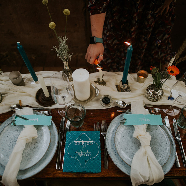 Moroccan Style Tablescape at Mount Pleas
