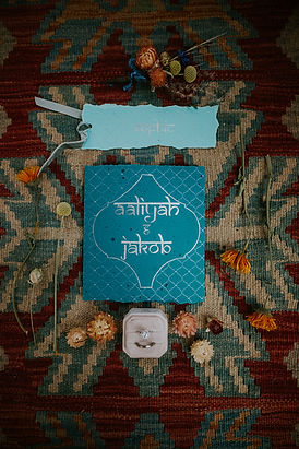Moroccan inspired stationery and flowers