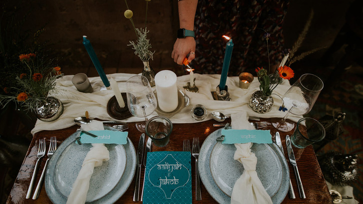 Moroccan inspired table scape for an intimate wedding styled by Sophie from The Little Details by Sophie at Mount Pleasant Ecological Park.