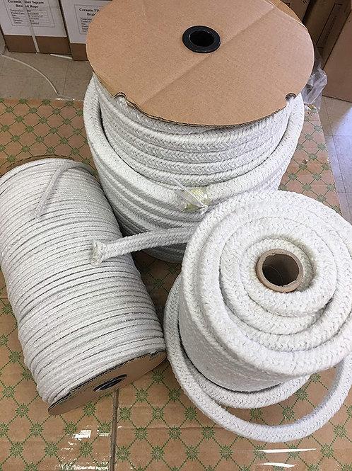 """Ceramic Fiber Round Braided Rope 600ft x 1/4""""Diameter"""