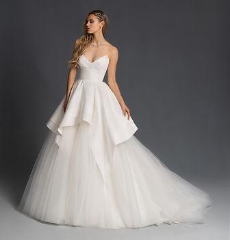 Hayley paige strapless wedding dress