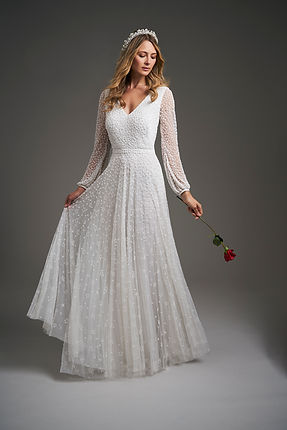 Eliza Jane Howell elegant wedding dress with sleeves
