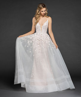 Hayley Paige lace wedding dress with embellishments