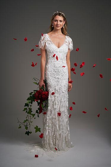 Eliza Jane Howell lace embellished wedding dress