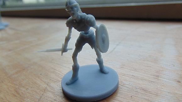 D&D Miniature Skeleton with sword