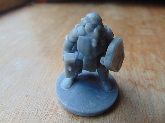 D&D Miniature Dwarf Fighter with Hammer
