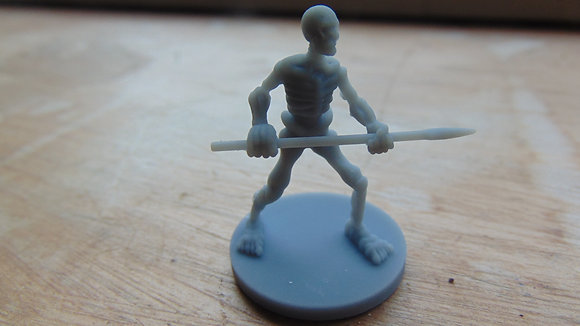 D&D Miniature Skeleton with spear