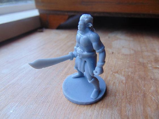 D&D Miniature Half Orc Captain