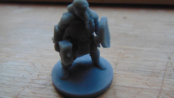 D&D Miniature Dwarf with hammer and shield