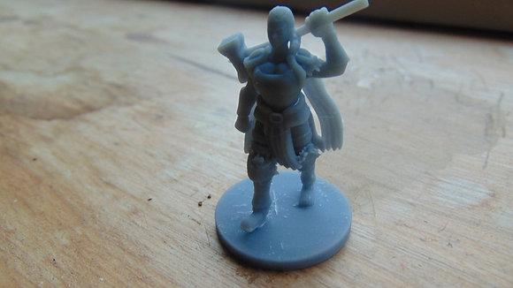 D&D Miniature Female Barbarian