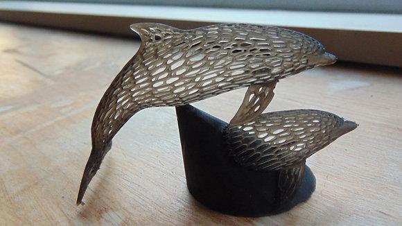 Voronoi Style Resin Dolphin Ornament
