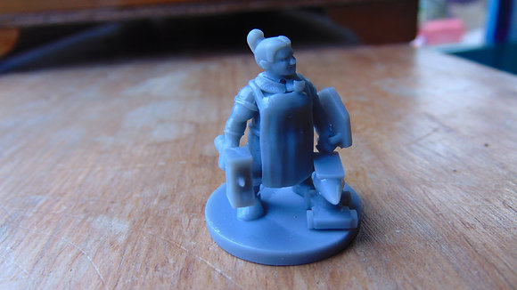 D&D Female dwarf blacksmith
