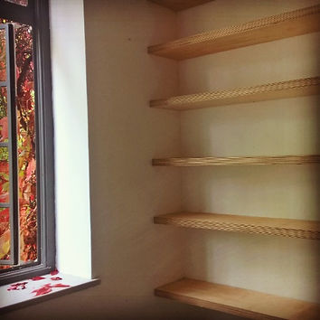 Birch Ply floating shelves, Camberwell G