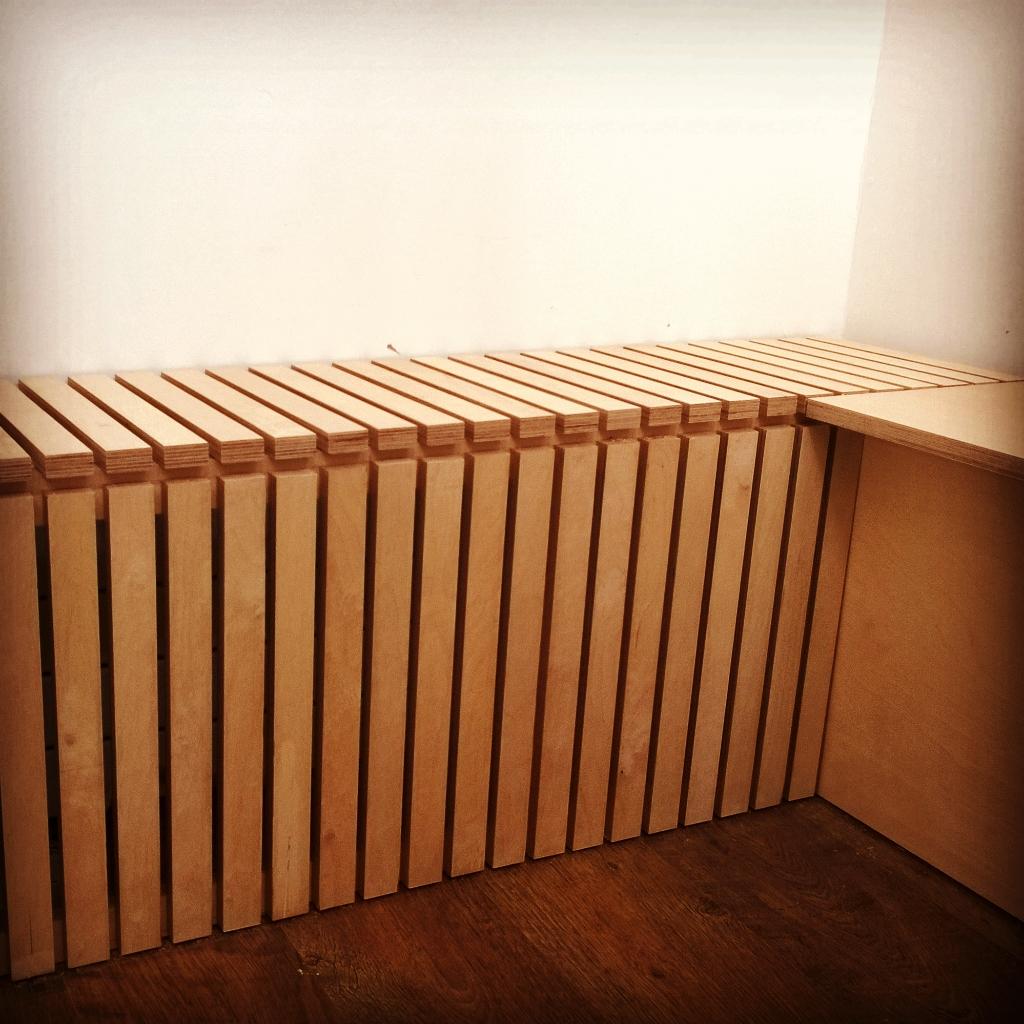 Birch ply slatted bench_storage_