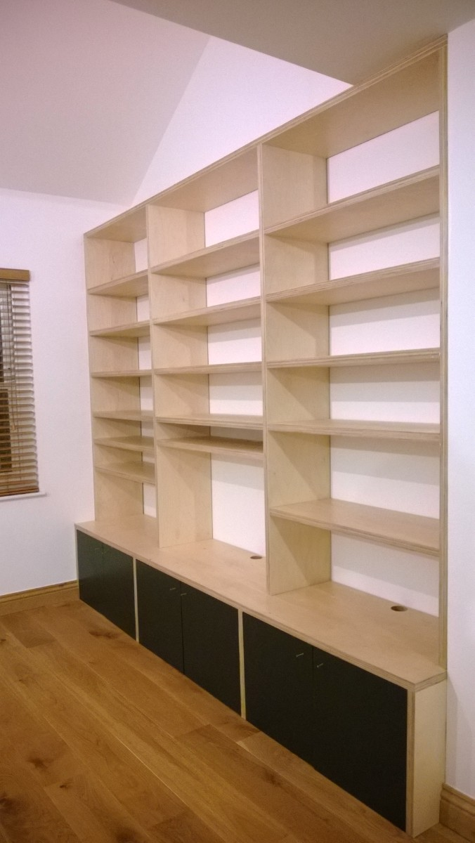 Birch ply media unit and shelves_