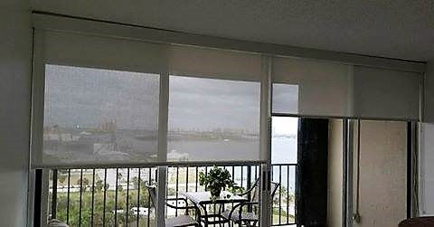 Roller Blinds Shades. Motorized or Manual