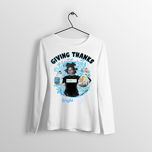 Giving Thanks | Long Sleeve T-Shirt (White)