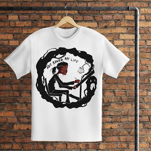 Art Saved My Life T-Shirt | Artwork by RIPMU